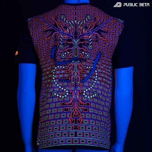 Connected UV Reactive Printed T-Shirt