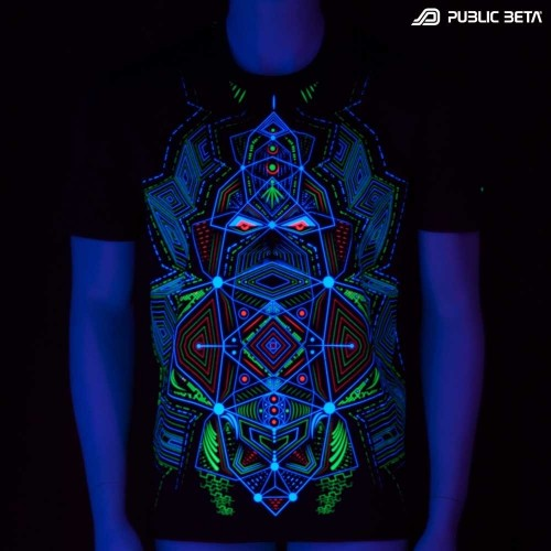 Multidimensional UV DarkPsy Blacklight T-shirt