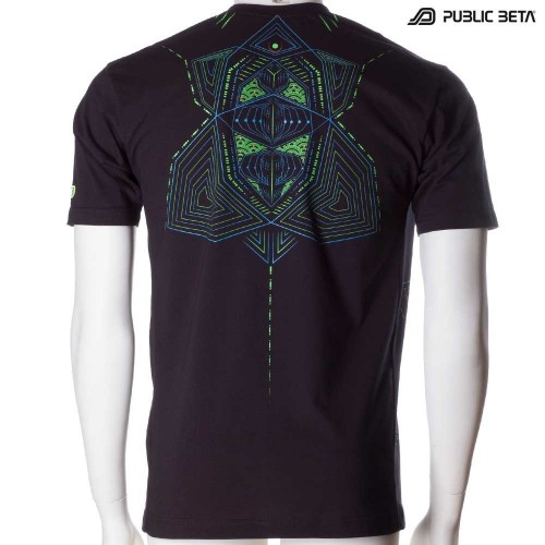 Multidimensional UV DarkPsy Blacklight T-shirt