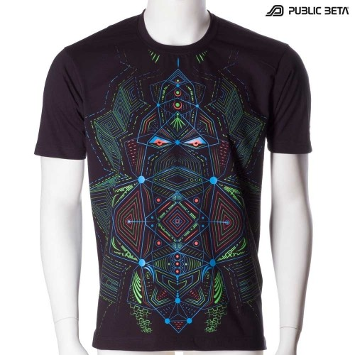Blacklight Psyart T-Shirt / Multidimensional UV D89