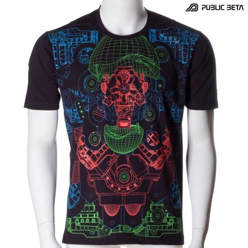Hybrid UV D87 - Psychedelic T-Shirt by Public Beta Wear