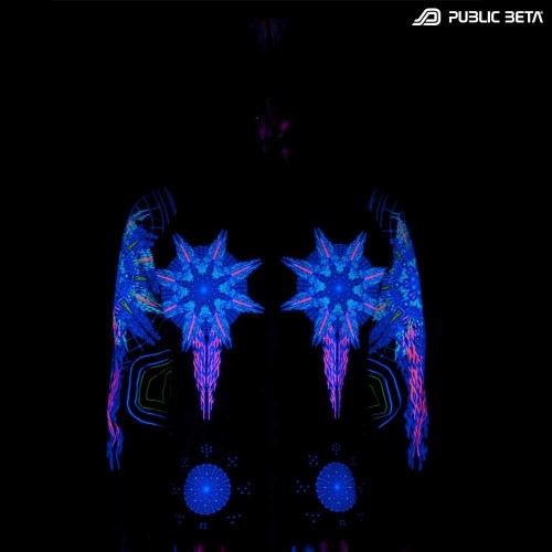 Powercore UV D44 Hooded Sweater / Blacklight Psywear
