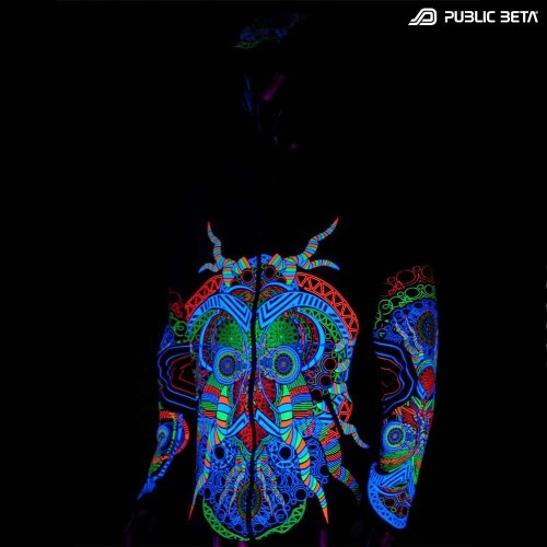 Blacklight Reactive Hooded Sweater Spirit UV