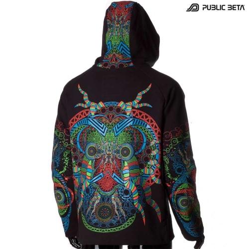 Blacklight Reactive Hooded Sweater Spirit UV