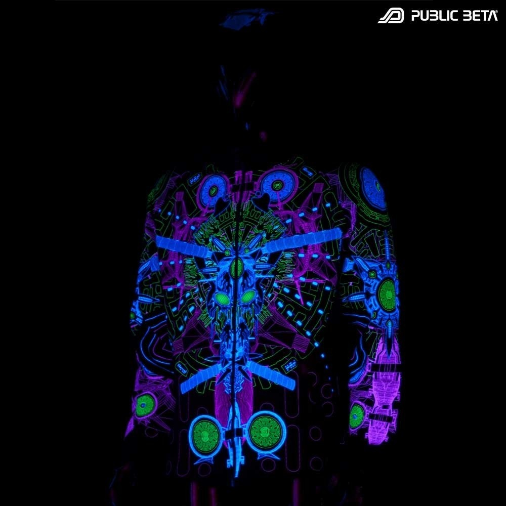 Messenger UV D96 Hooded DarkPsy Sweater