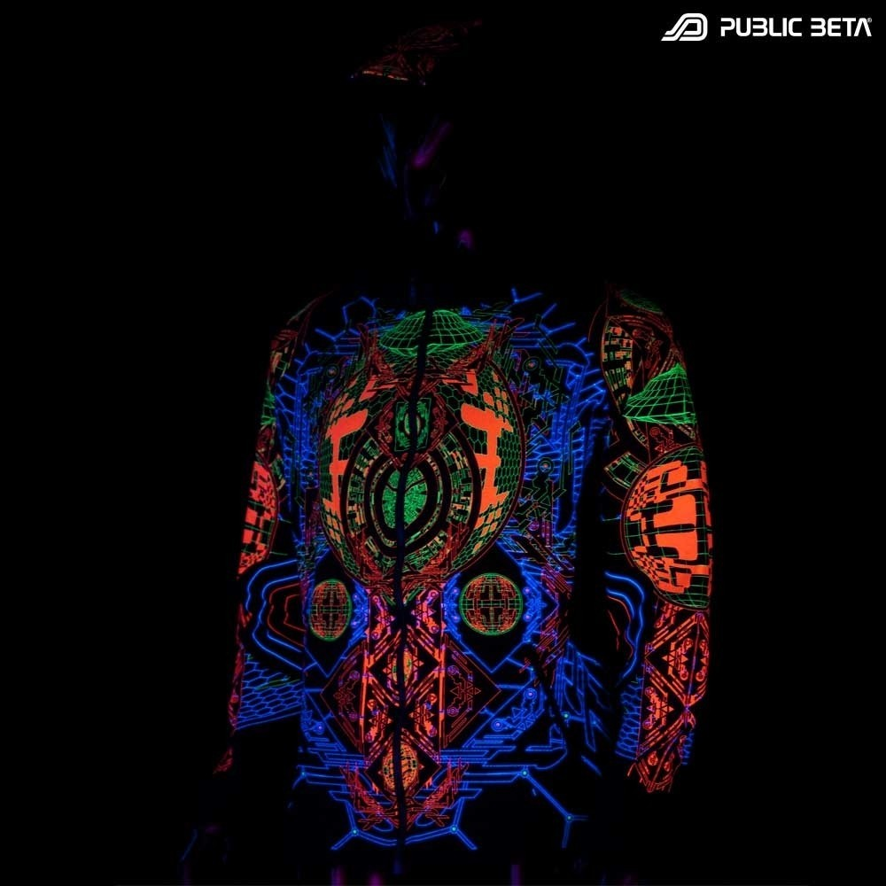 Activator UV D83 Hooded Sweater / Glow in Blacklight Psywear
