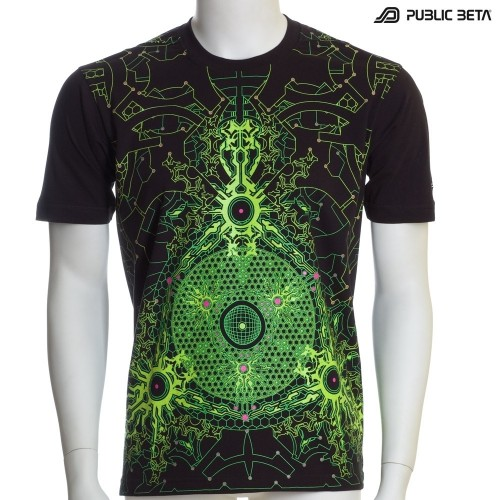 Core Protector UV D39 - Psychedelic T-Shirt by Public Beta Wear