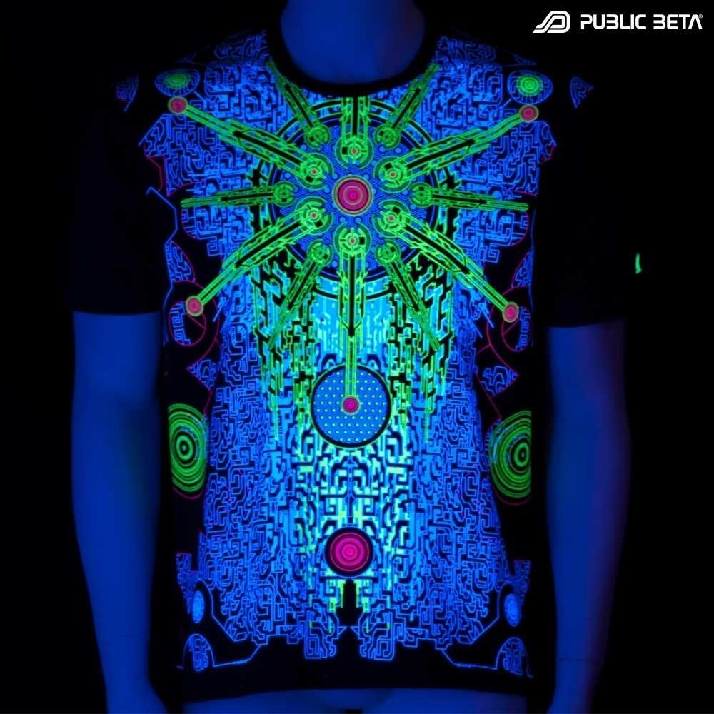 Solar Chip UV Glow T-Shirt / Psytrance Festival Clothing
