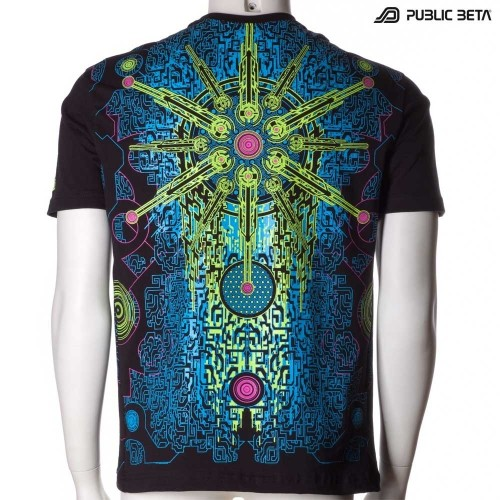 Solar Chip UV Glow T-Shirt / Psytrance Festival Clothing