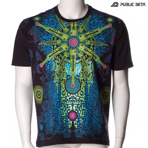 Solar Chip UV D41 T-Shirt / Blacklight Glow Wear