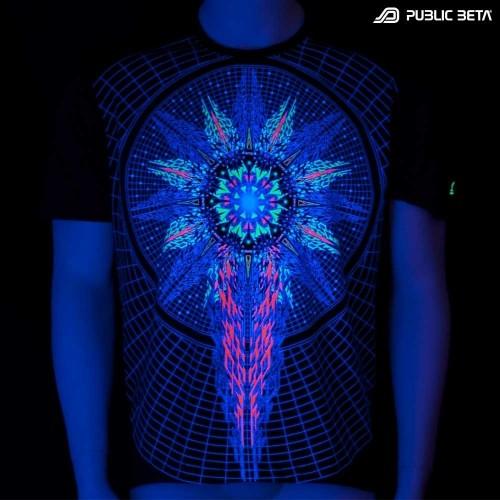 Powercore UV Active  T-Shirt / Blacklight Active Festival Fashion