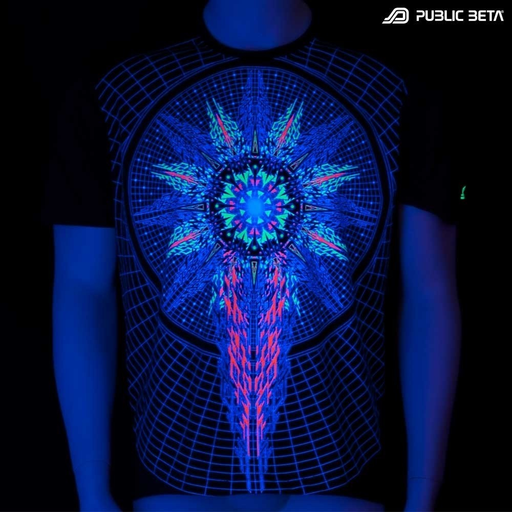 Powercore UV Active  T-Shirt / Blacklight Active Festival Fashion