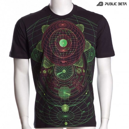 Intergalactic UV Active Psychedelic DJ T-Shirt