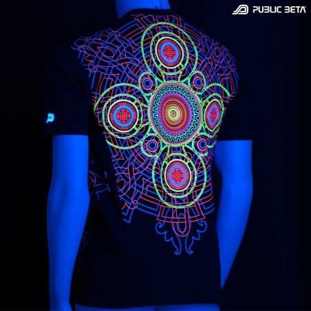 UV Active Psychedelic DJ T-Shirt