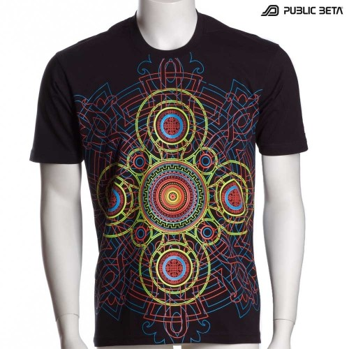 Cycle UV D47 - Psychedelic T-Shirt by Public Beta Wear
