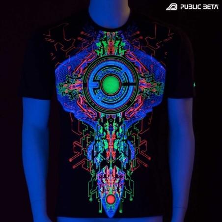 Trancemitter UV Active Psychedelic DJ T-Shirt / Fluorescent Alternative Fashion