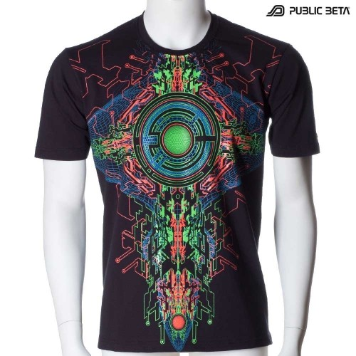 Psychedelic Art Printed T-Shirt /Trancemitter UV D48