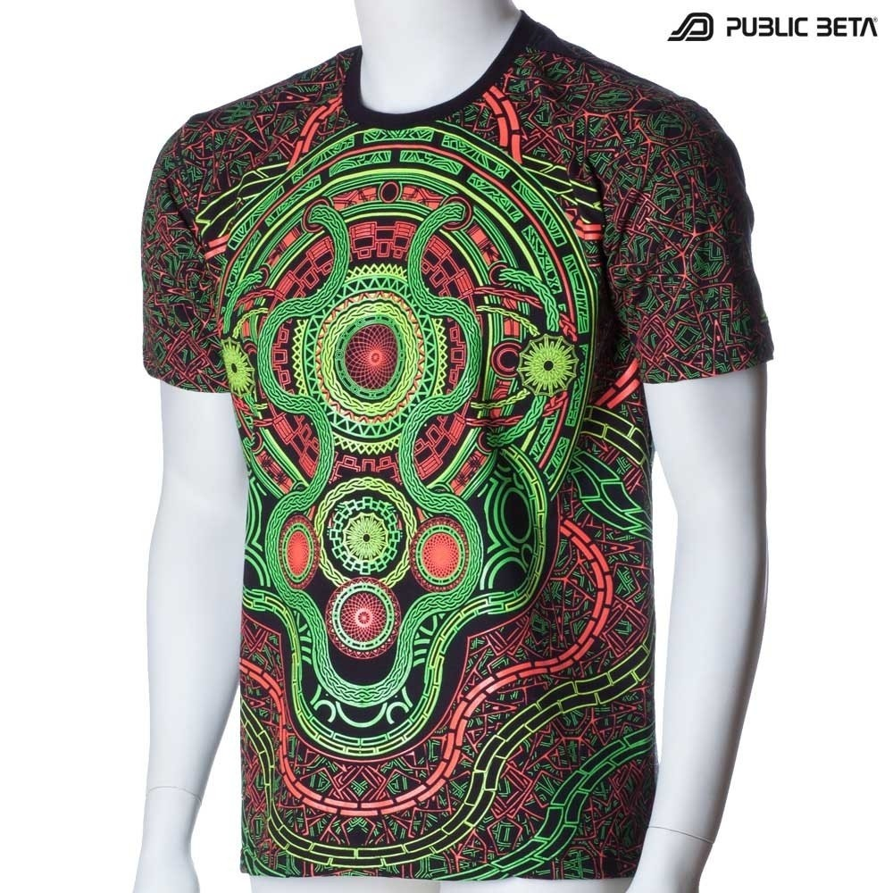 Psychedelic Art Printed T-Shirt /Mastermind UV D54