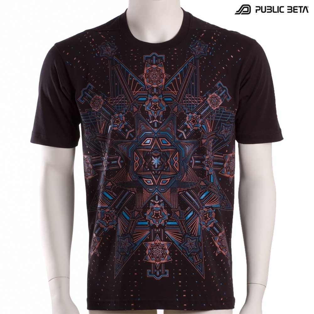 Glow in Blacklight Psychedelic T-Shirt / Star System UV D61
