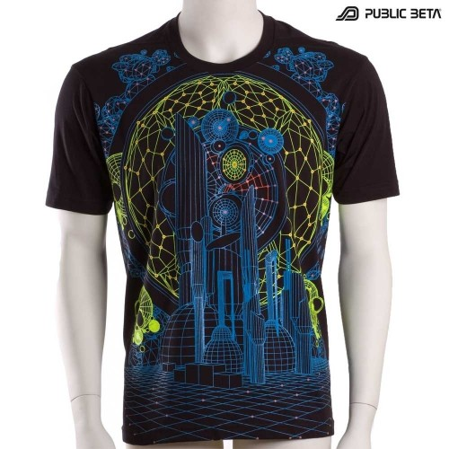 Psychedelic T-Shirt / Colony UV D62 / Blacklight Clothing