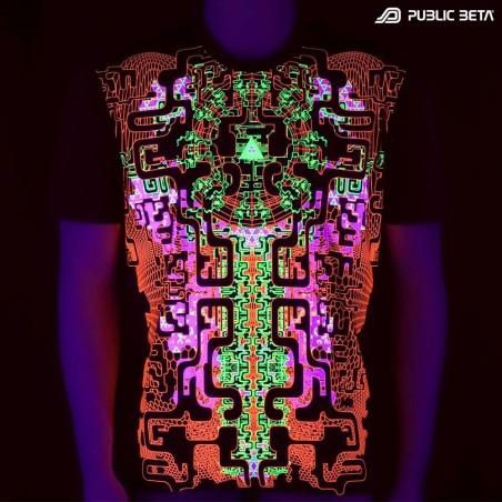 Maze Of Ra UV T-Shirt / Futuristic Blacklight Art Print Clothing