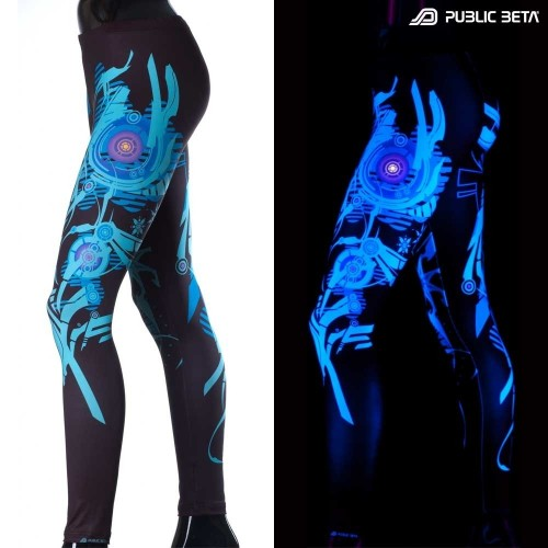 Spacemaker UV  D4 Blacklight Leggings
