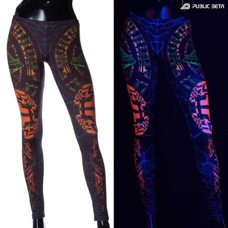 Activator UV Futuristic Glow in Blackight Leggings
