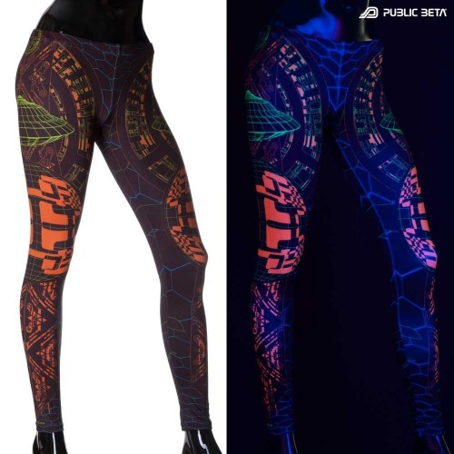 Activator UV D83 Futuristic Blacklight Art Leggings