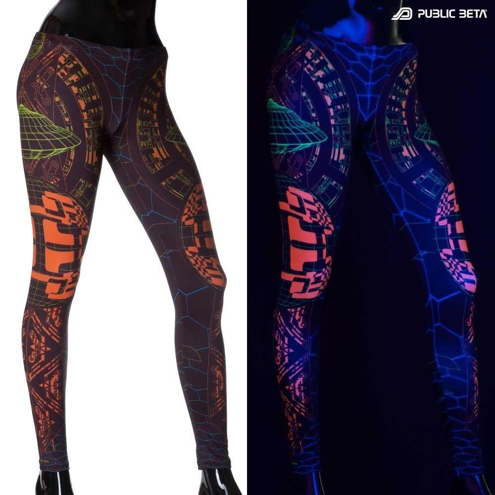 Activator UV D83 Futuristic Blacklight Art Leggings