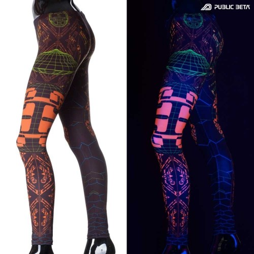 Activator UV Futuristic Glow in Blackight Leggings