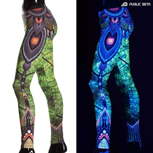 Native UV D81 Fluorescent Printed Leggings