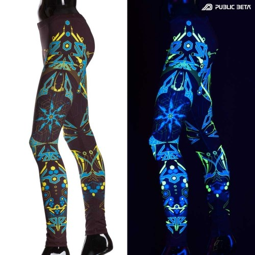 Totemo D 25 UV Glow Leggings