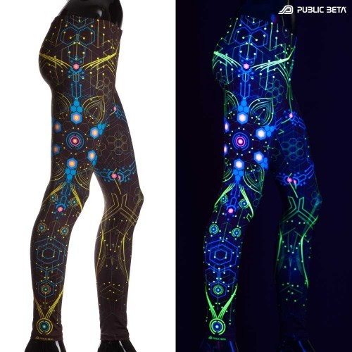 Atomic Generator Blue D2  UV Leggings
