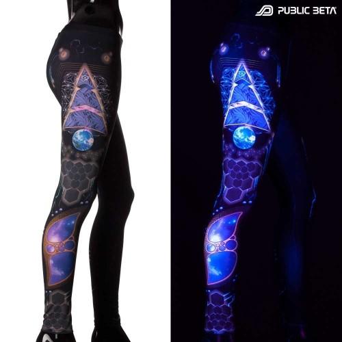 Spyramide UV Active Leggings by Public Beta Wear