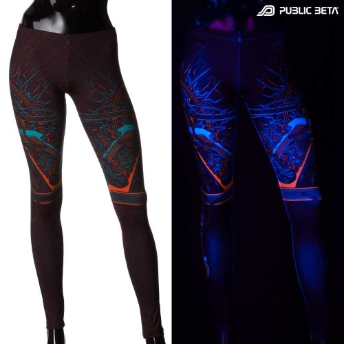 OHMmm UV D88 / Gow in Blacklight Leggings