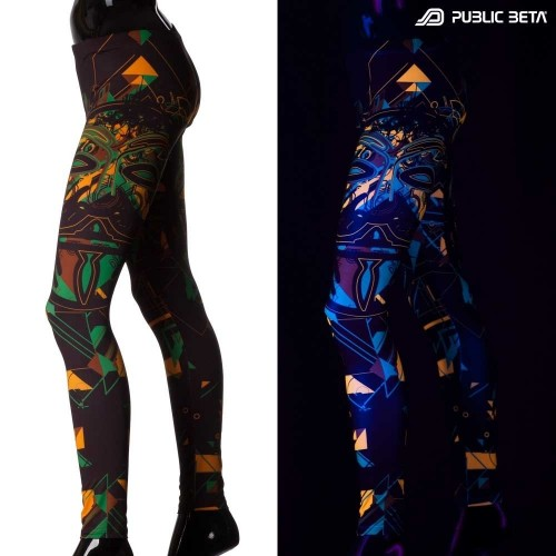 Maskal UV D84 Leggings Blacklight Alternative Fashion