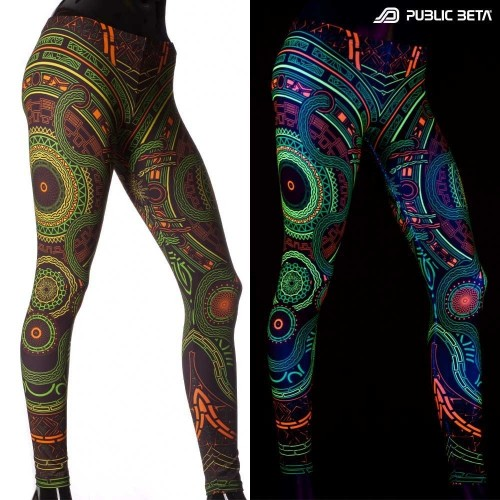 Mastermind D54 UV Glow in Blacklight Leggings