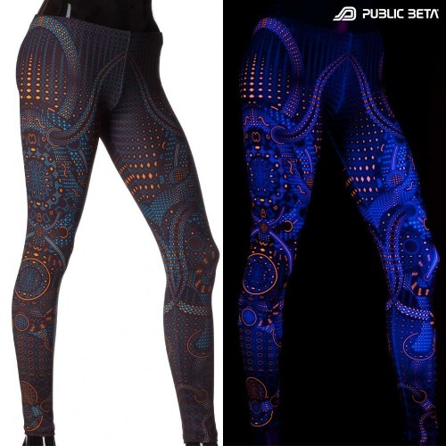 Glow in Blacklight Leggings /Autonom UV D77