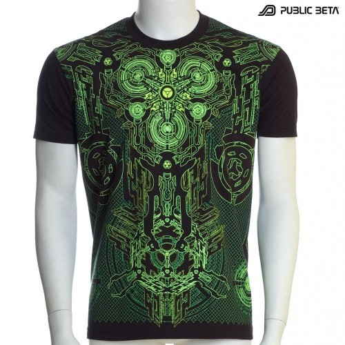 Radioactive UV D31 - Psychedelic T-Shirt by Public Beta Wear