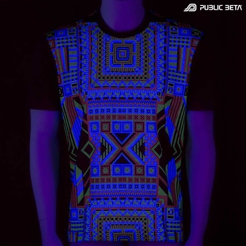 ChipPoint UV D53  / Glow in Blacklight Psychedelic T-Shirt