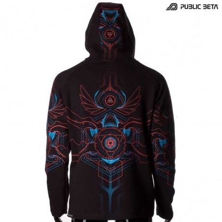 Public Beta 100 Psytrance Festival Clothing / Hooded Sweater