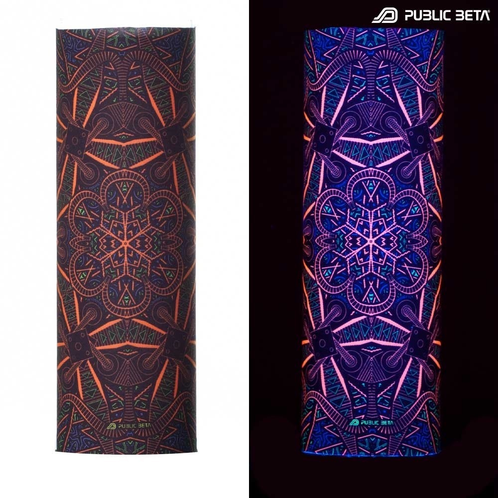 Tube Bandana / UV Active Face Mask/Vortex D98