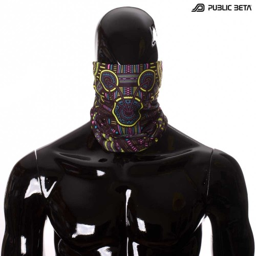 Bandana / Glow in Blacklight Face Mask/ Perplexed D101