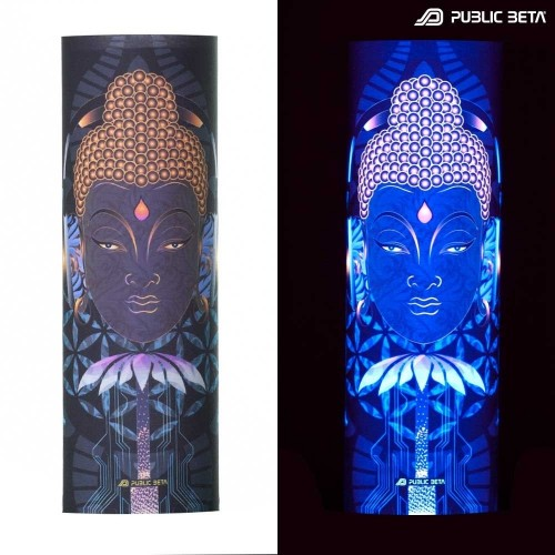 Face Mask / Glow in Blacklight Headgear / Flower of Sound D107