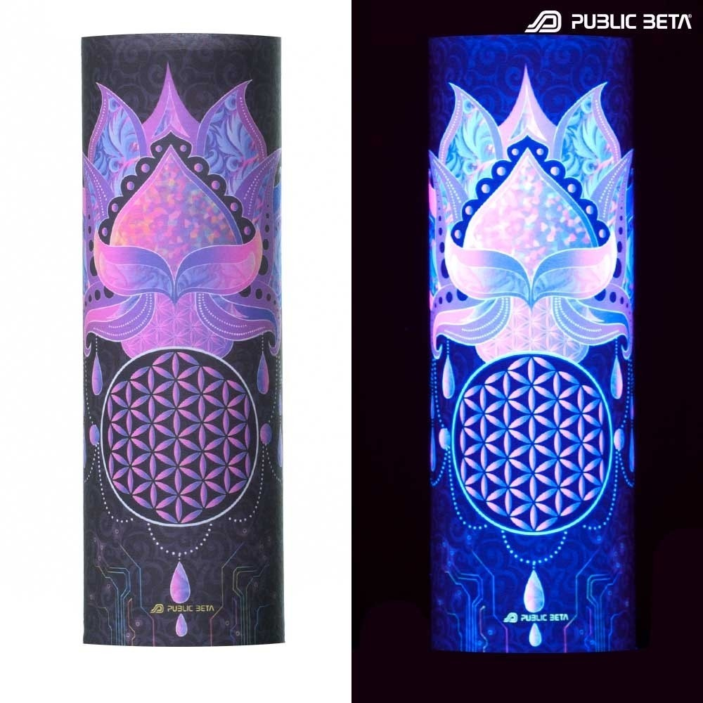 Face Mask / Glow in Blacklight Tube Bandana /Lotus 23 D109