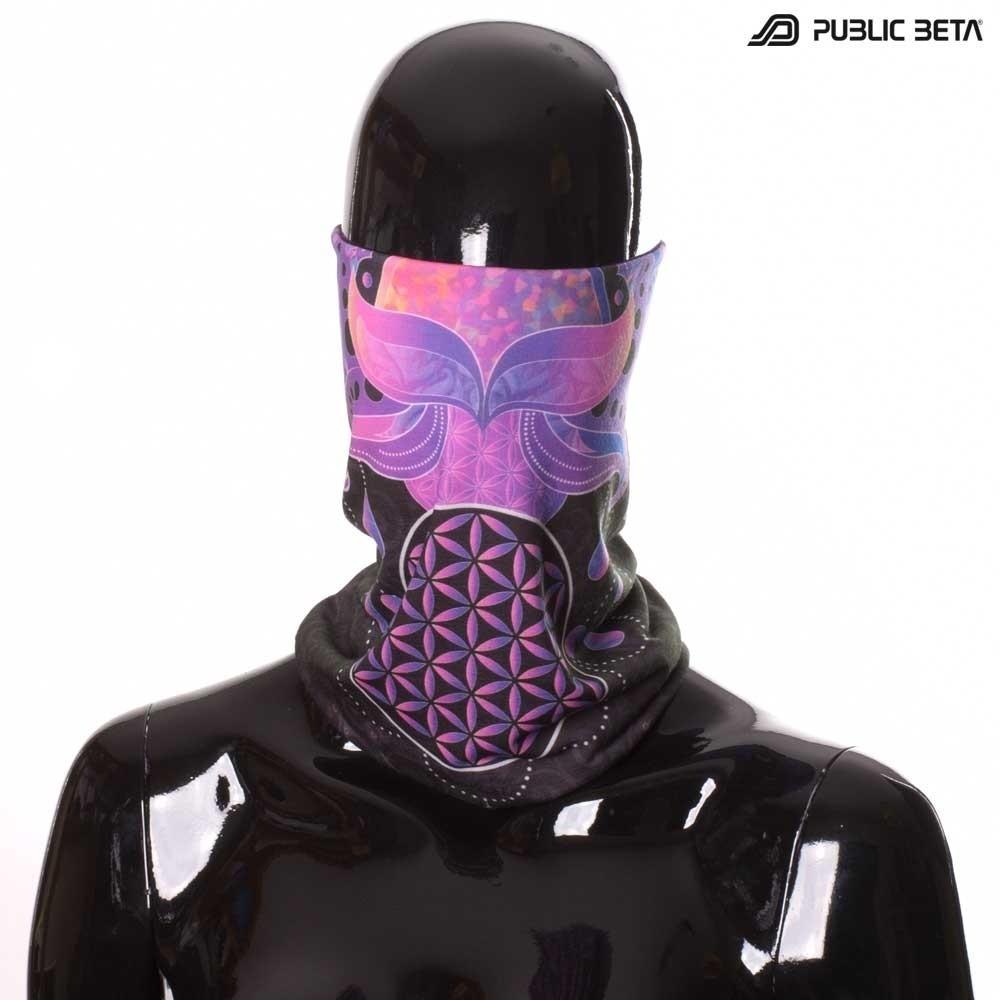 Face Mask / Glow in Blacklight Tube Bandana /Lotus 23 D109