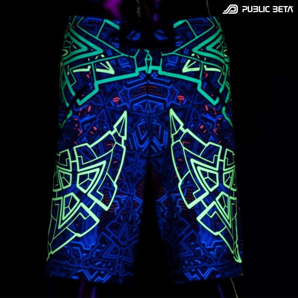 Blacklight Active Boardshorts / D91Trinity
