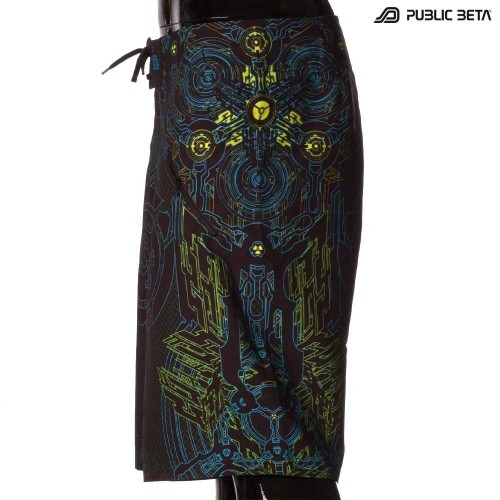 Boardshorts / Blacklight Active Wear/ D31 Radioactive