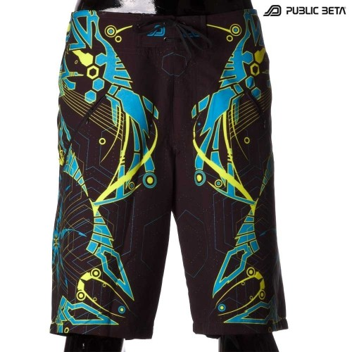 Boardshorts / Glow in Blacklight / D25 Totemo