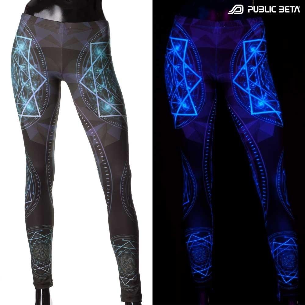 Glow in Blacklight Leggings / Geocycle D110
